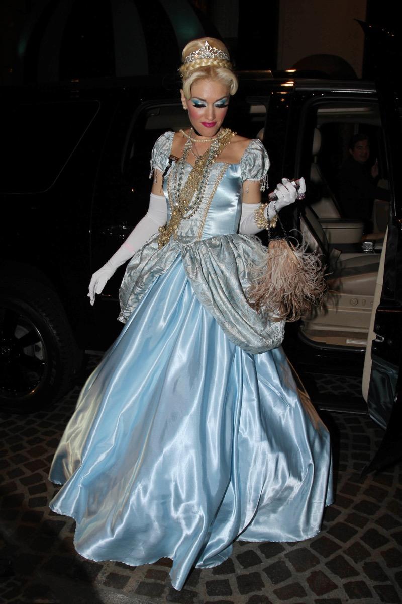 Gwen Stefani dressed as Cinderella for Halloween