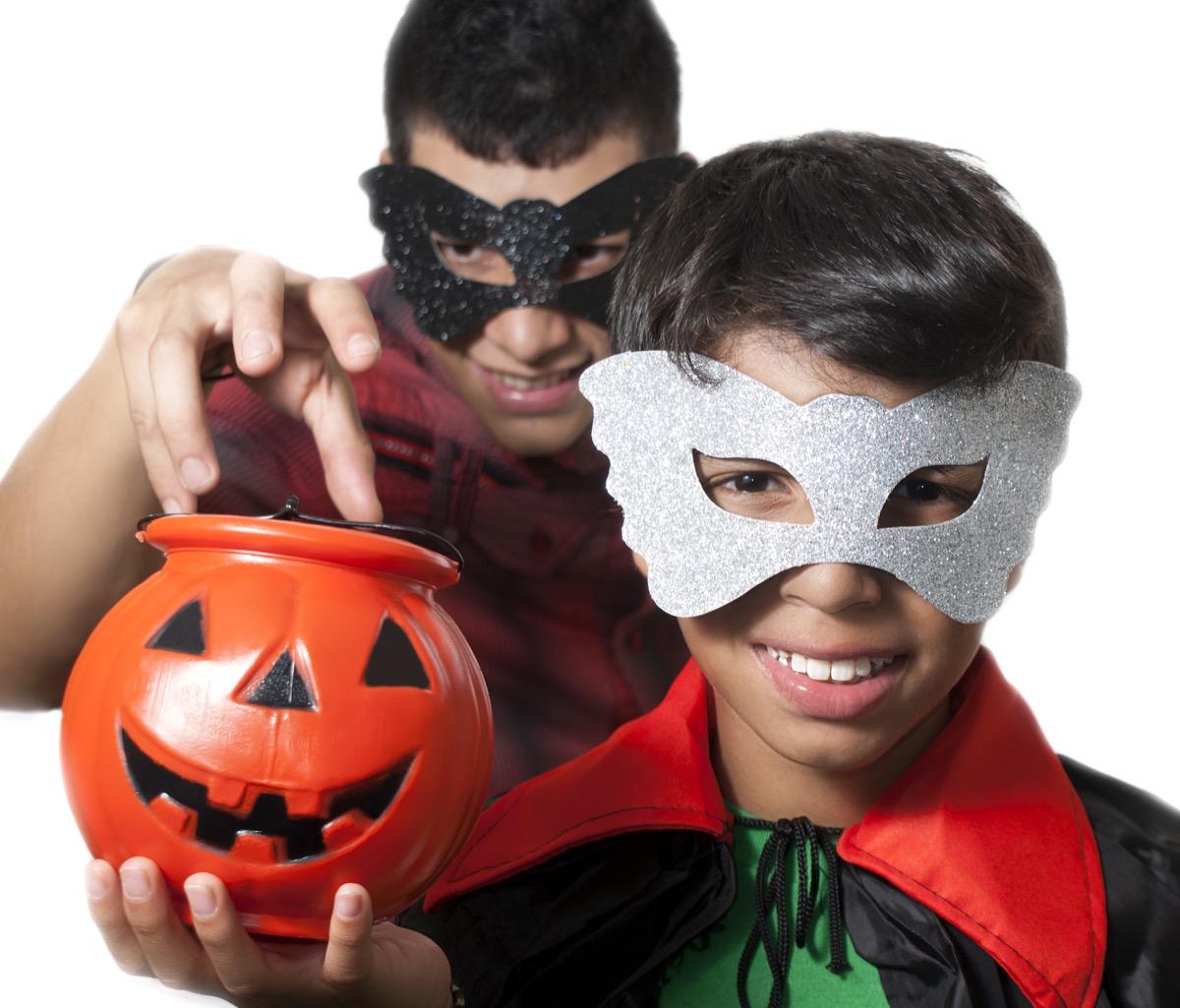 plastic halloween masks