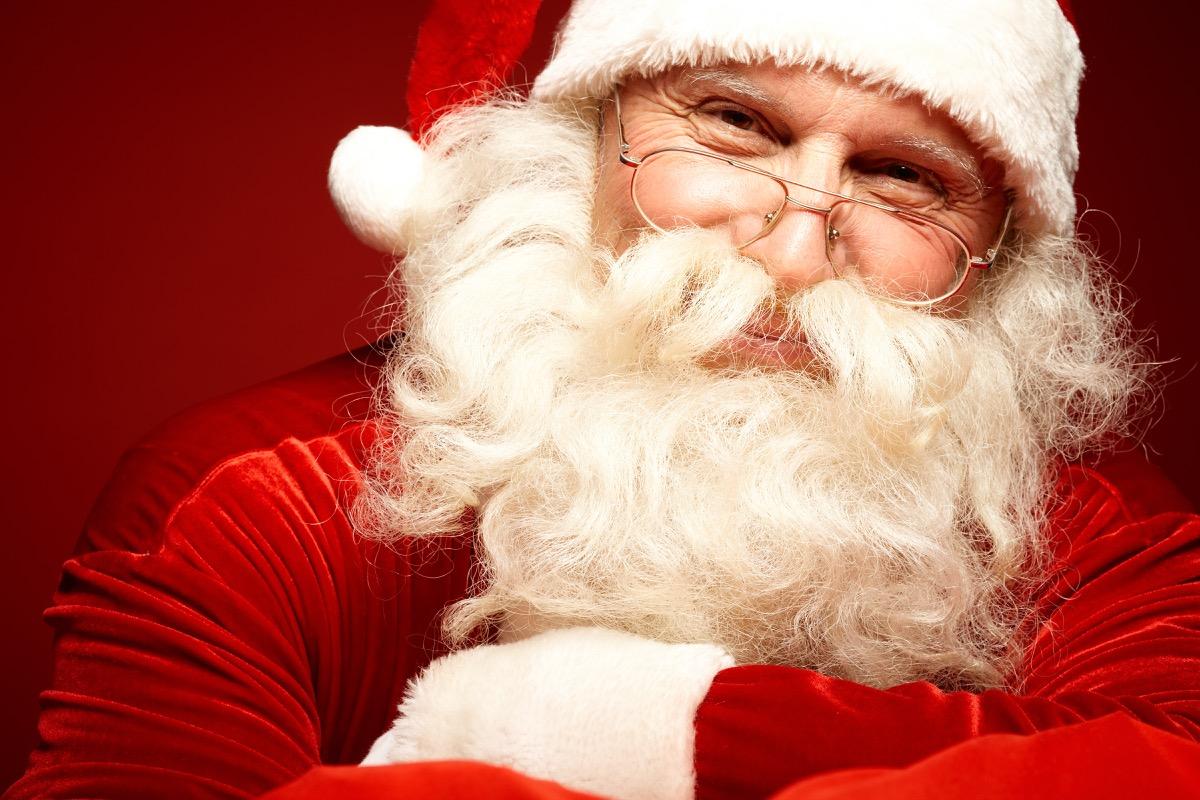 happy santa with glasses