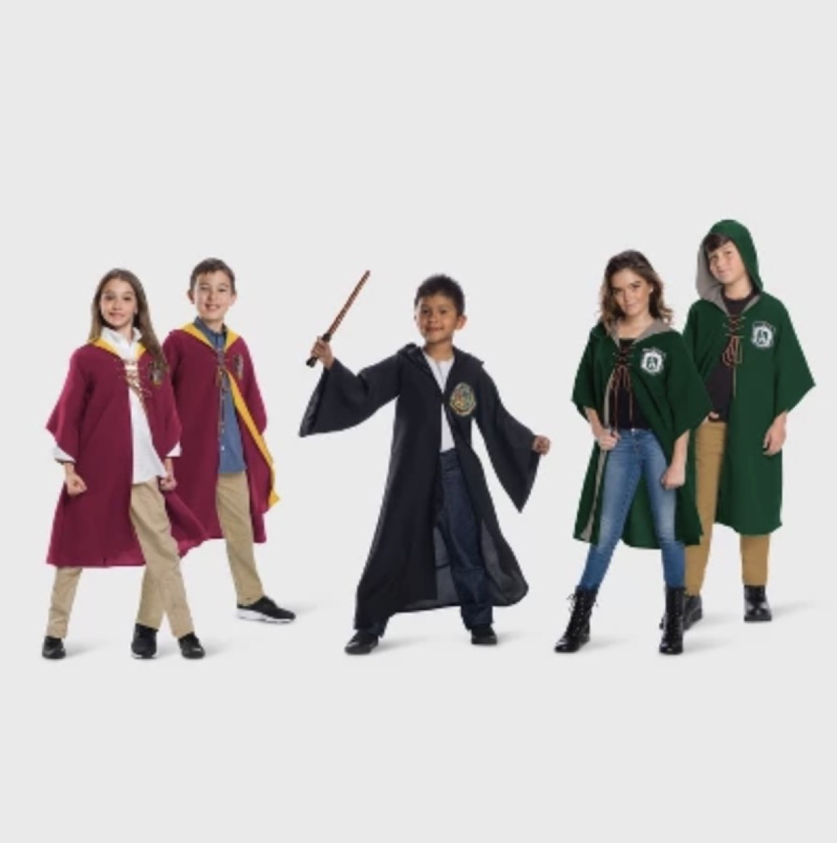 family dressed as harry potter characters, family halloween costumes