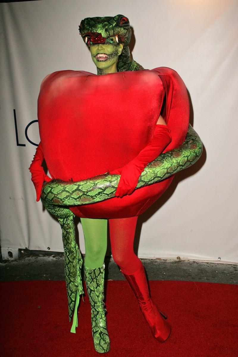 Heidi Klum garden of eden apple costume celebrity halloween costumes