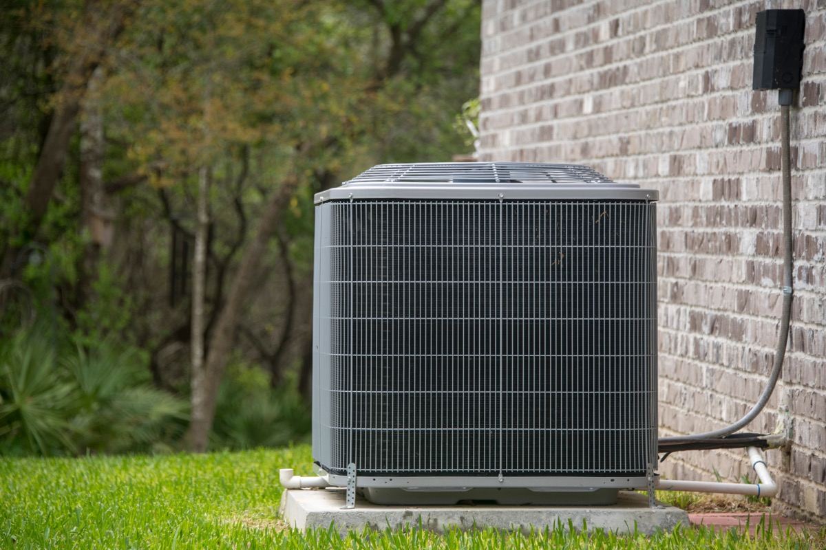 hvac system at the back of a house, fall home upgrades