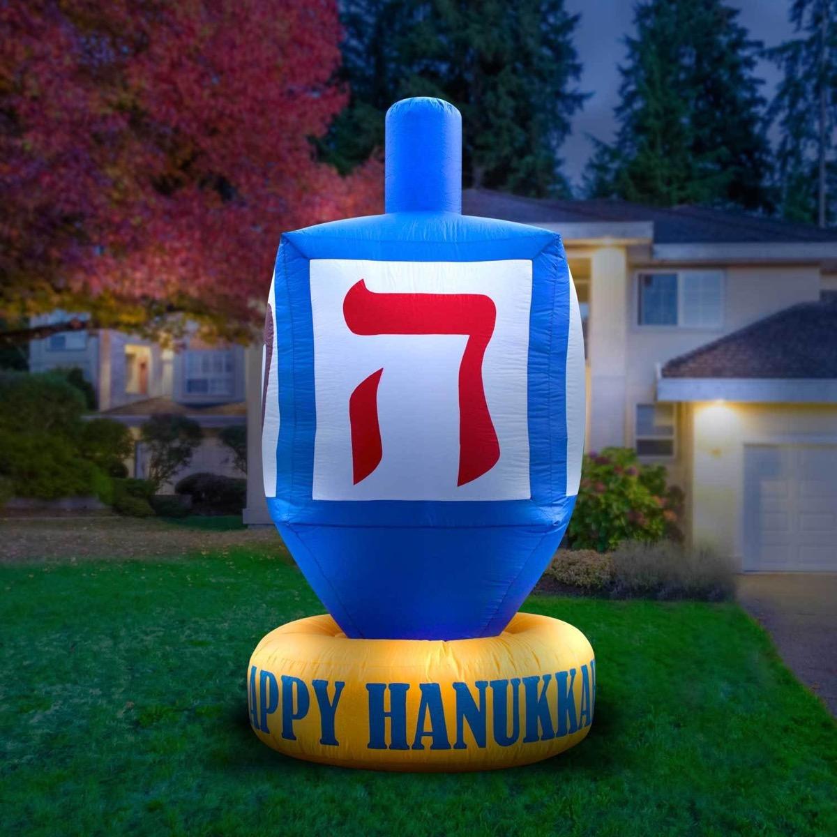 inflatable dreidel, hanukkah decorations