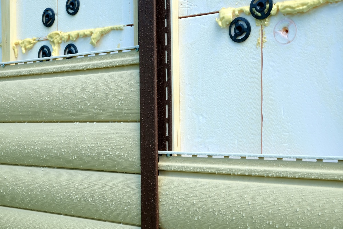 insulated siding on the side of a home, fall home upgrades