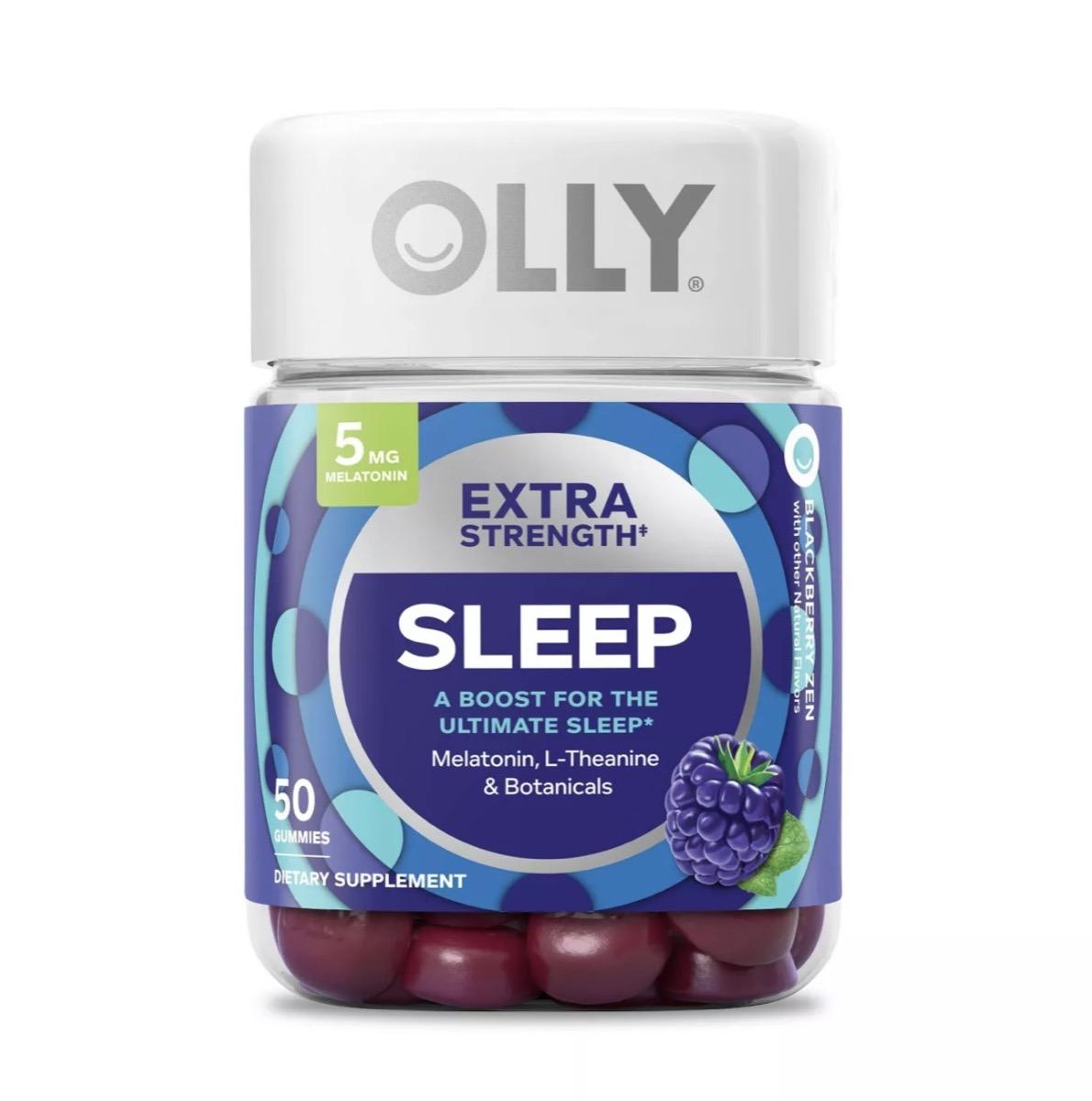 bottle of melatonin gummies, better sleep essentials