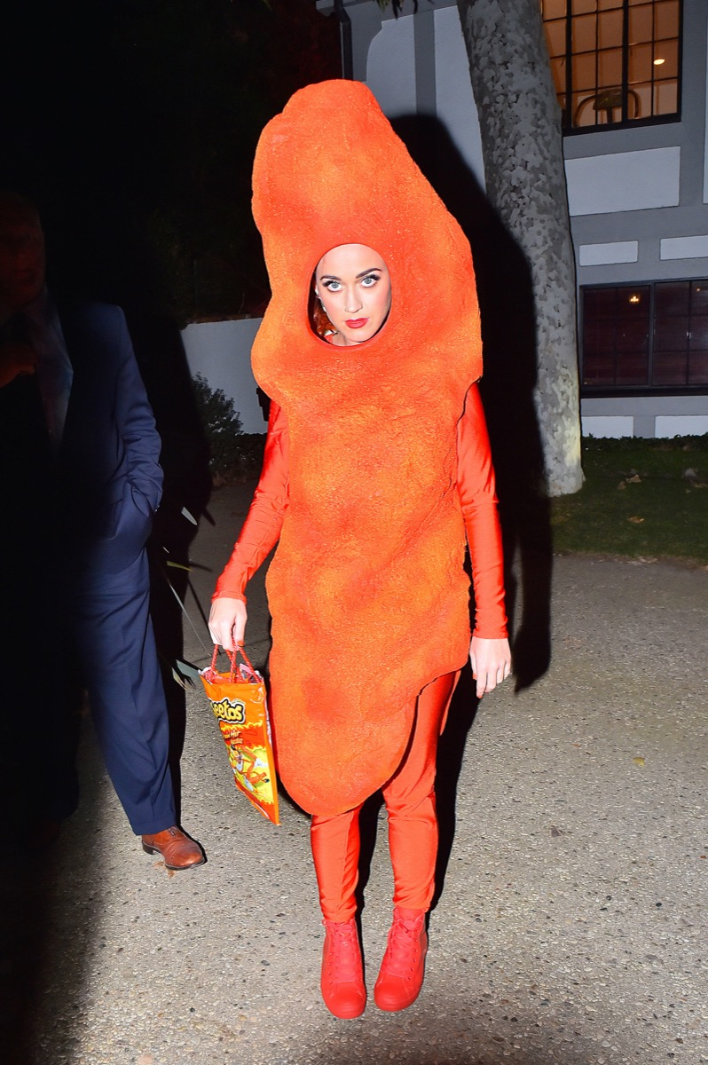 Katy Perry in a Cheeto costume 2014