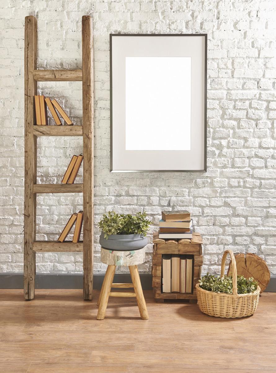 diy ladder bookshelf, getting rid of old junk