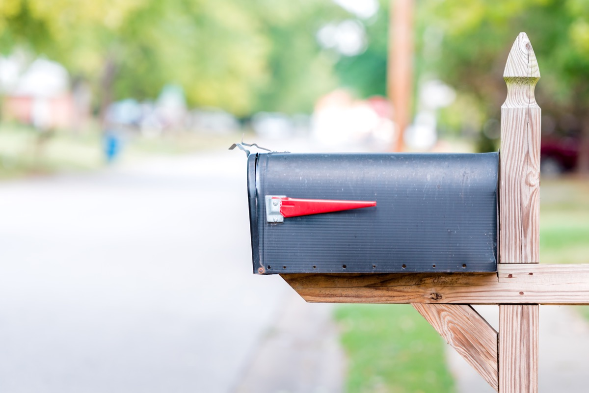mailbox on the side of the road, paper route