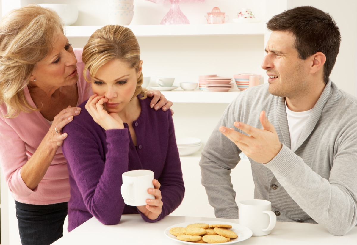 mother in law interfering with couple's argument