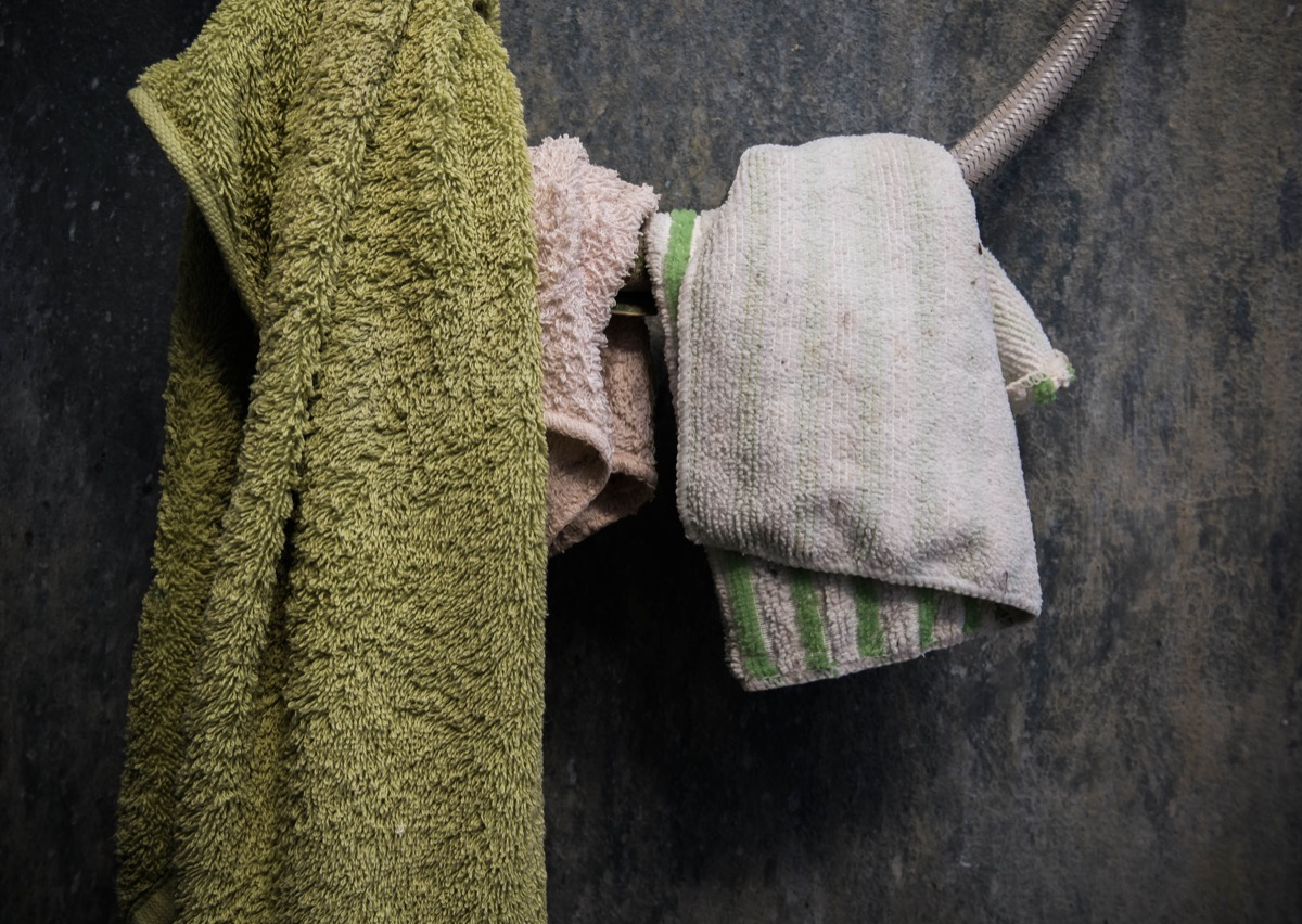 old worn out towels, getting rid of junk