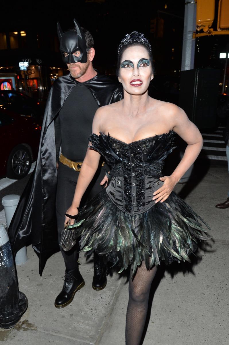Padma Lakshmi Black Swan Halloween Costume