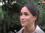 Meghan Markle looks at interviewer during ITV interview on Oct. 20 from Africa