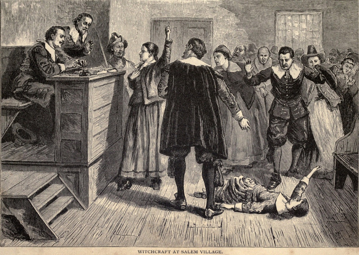salem witch trial drawing