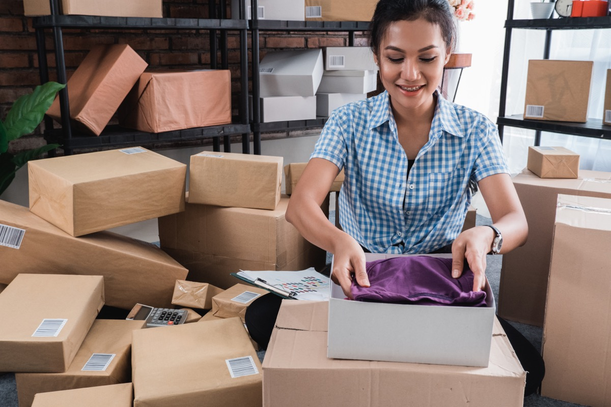 selling clothes online, getting rid of junk