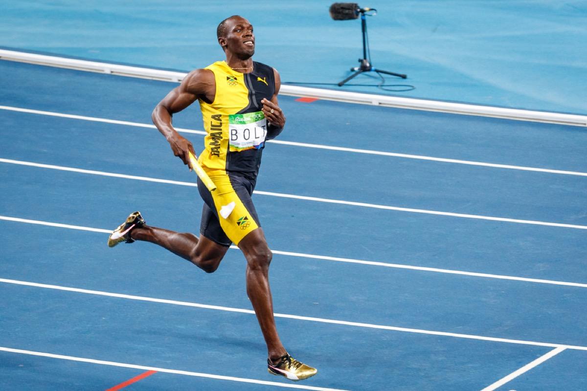 Usain Bolt competing
