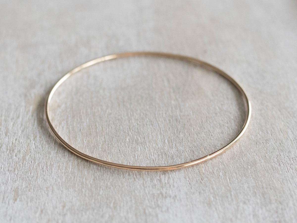 thin gold bangle, Etsy jewelry