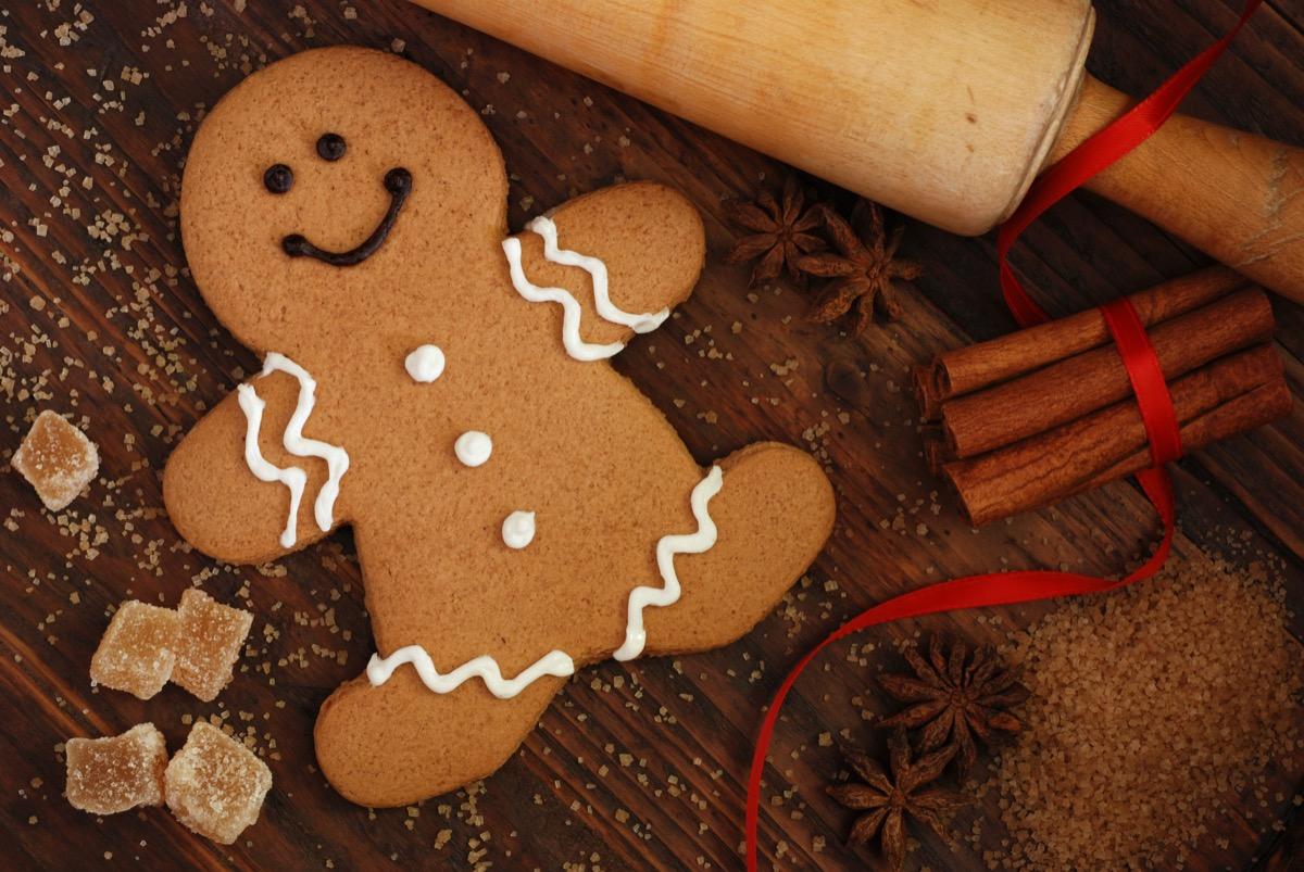 smiling gingerbread man