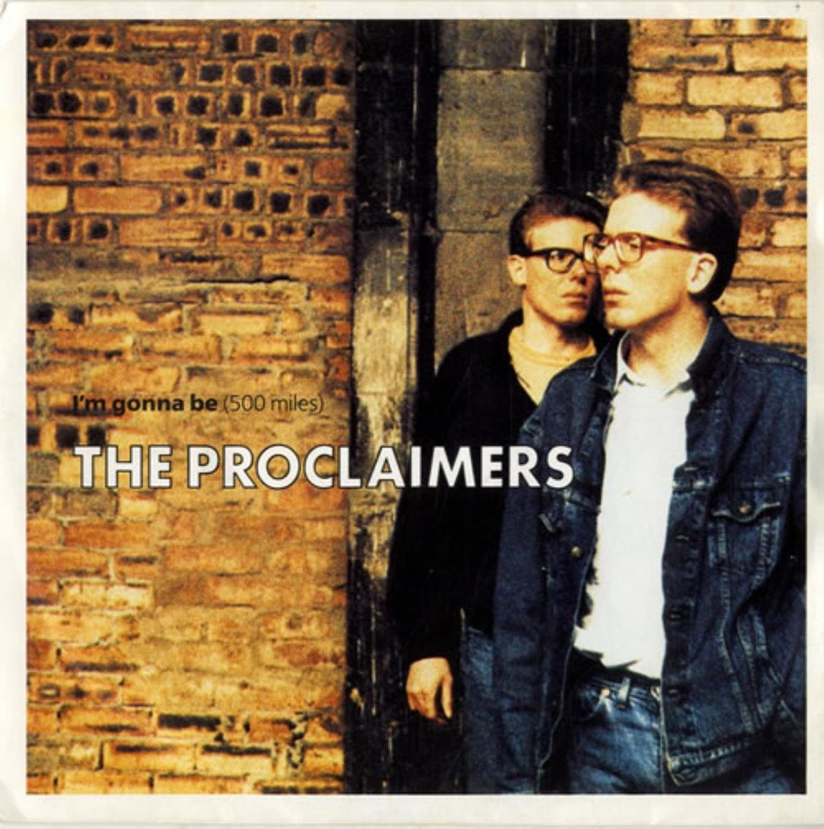 the proclaimers album cover for 500 miles, a 1980s one-hit wonder
