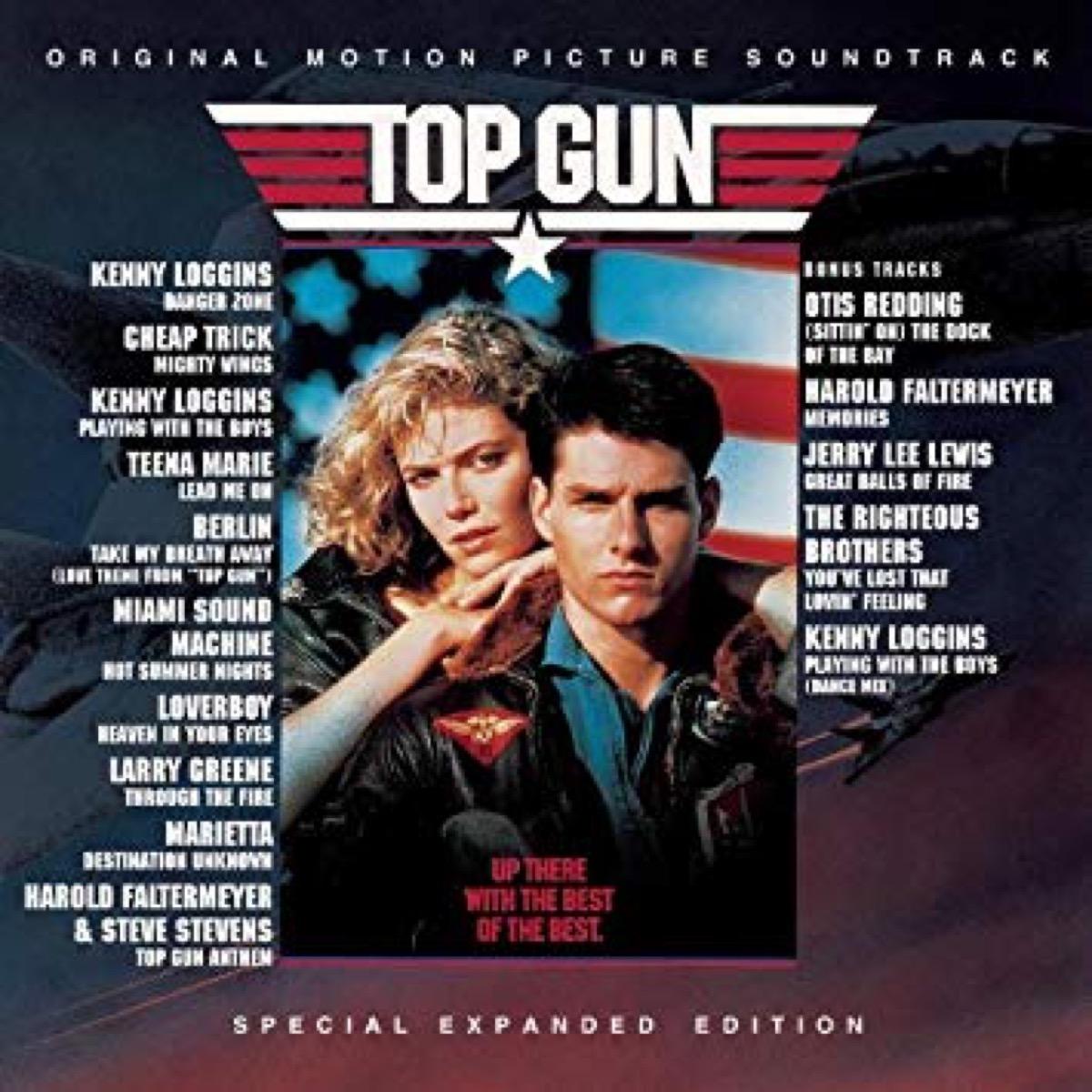 top gun movie soundtrack album cover