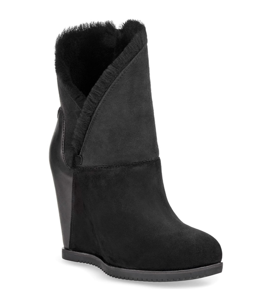 black boots with shearling lining