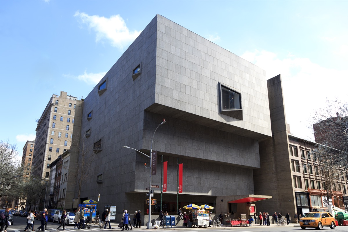 Exterior of the old Whitney Museum building