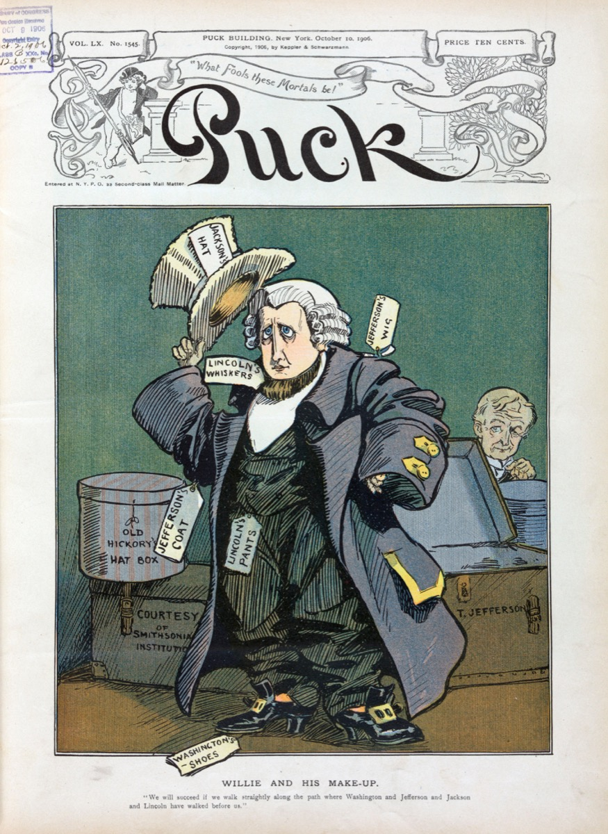 William Randolph Hearst in a cartoon depicting his run for president of the united states