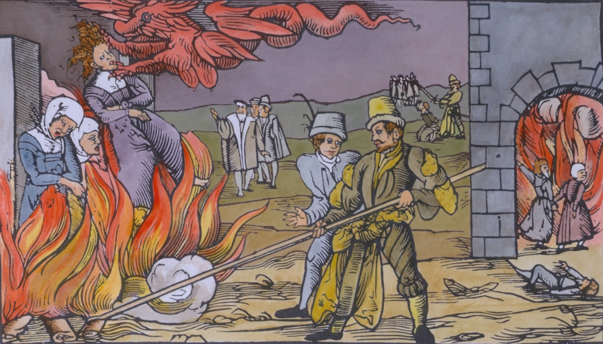 witch hunt watercolor 1555