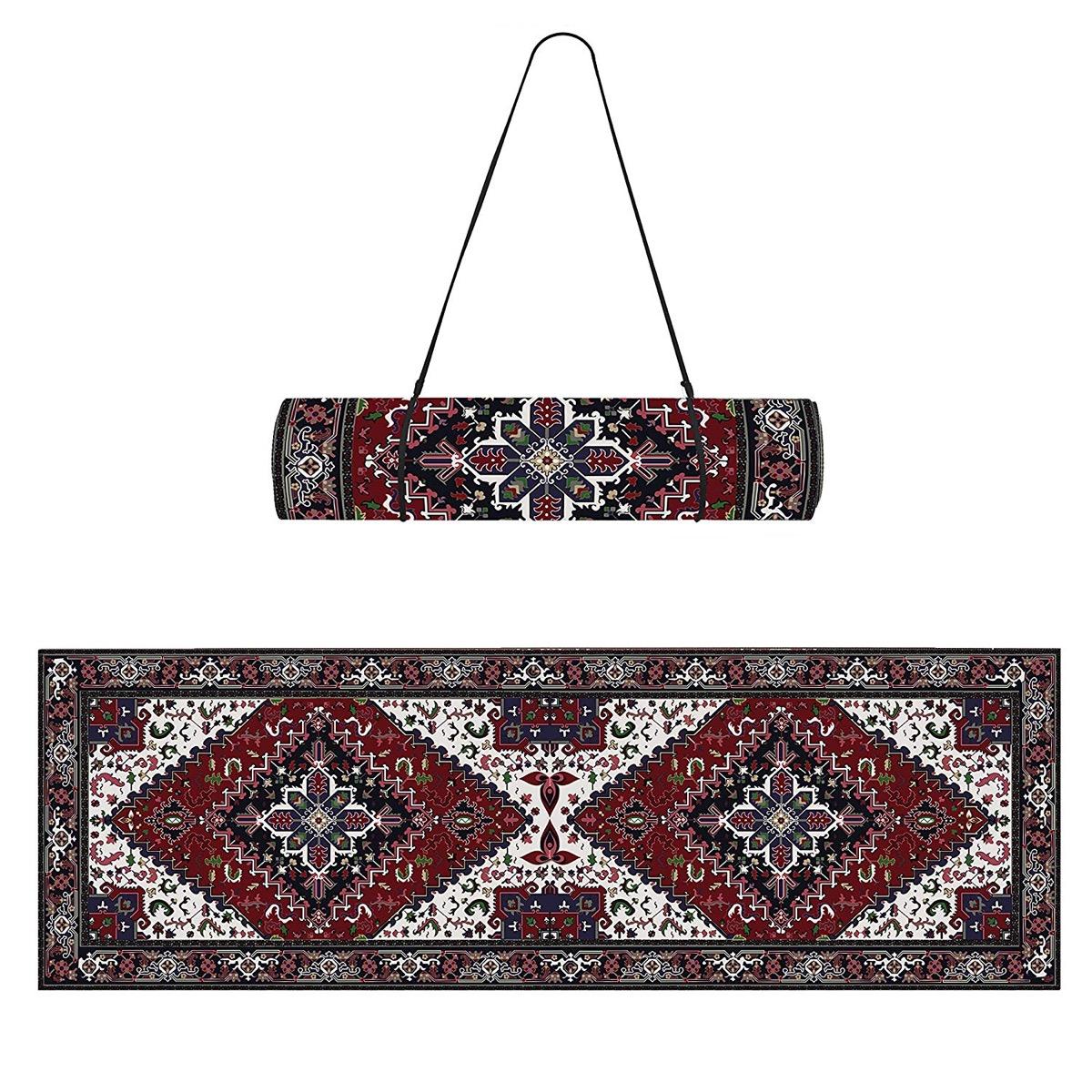 afghan rug inspired yoga mat