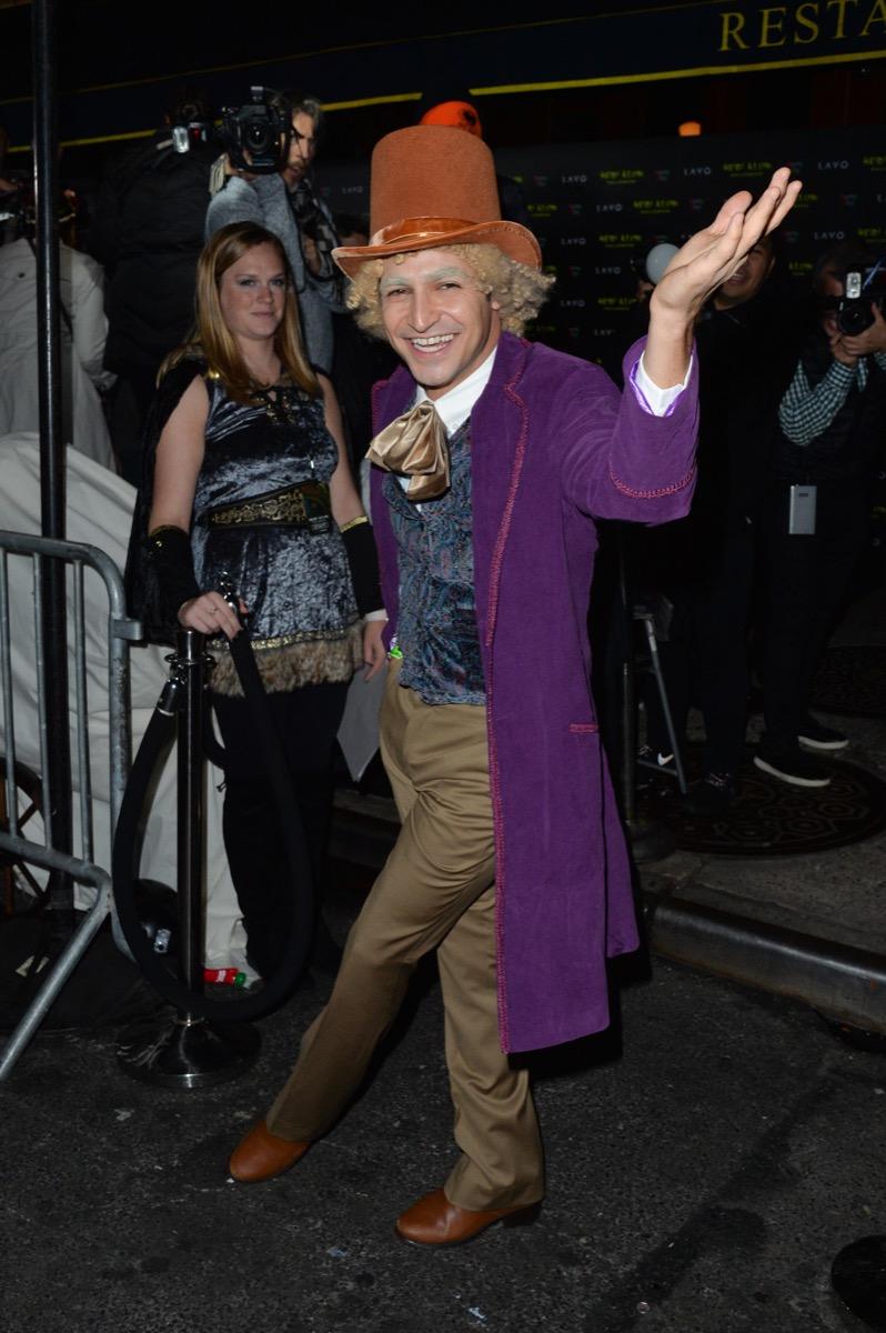 Zac Posen dressed as Willy Wonka celebrity halloween costumes