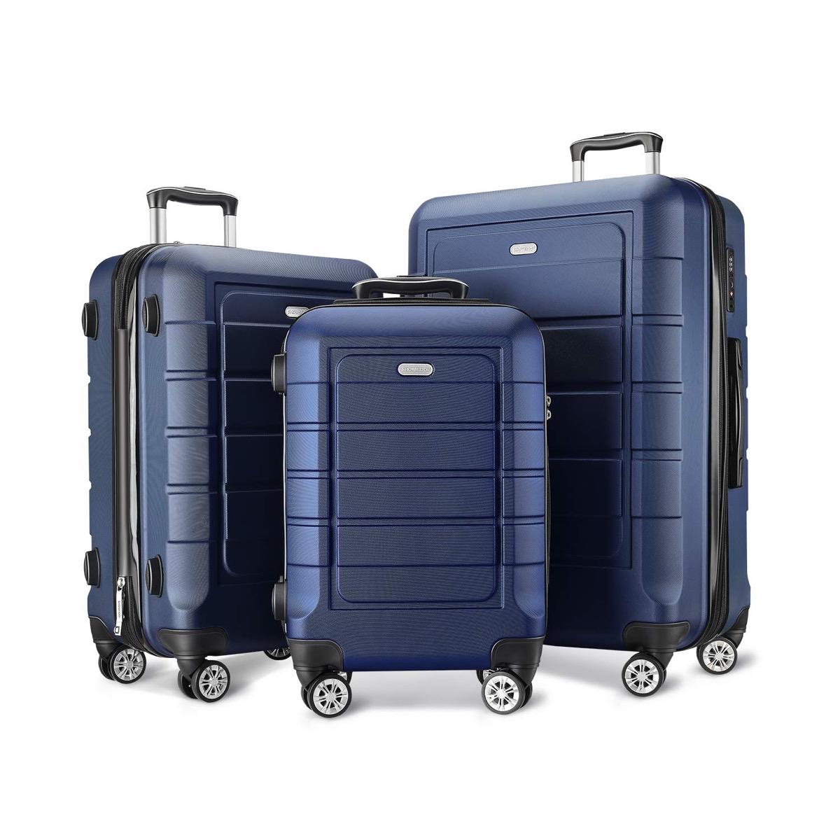 Blue luggage 3-set