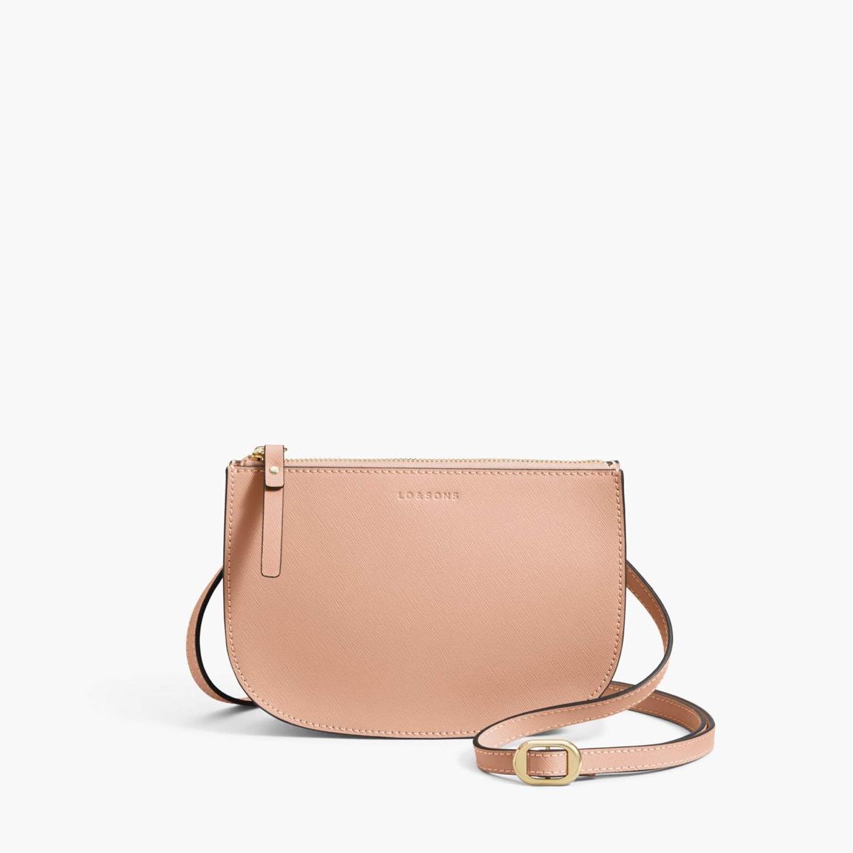 blush waverly 2 purse on white background