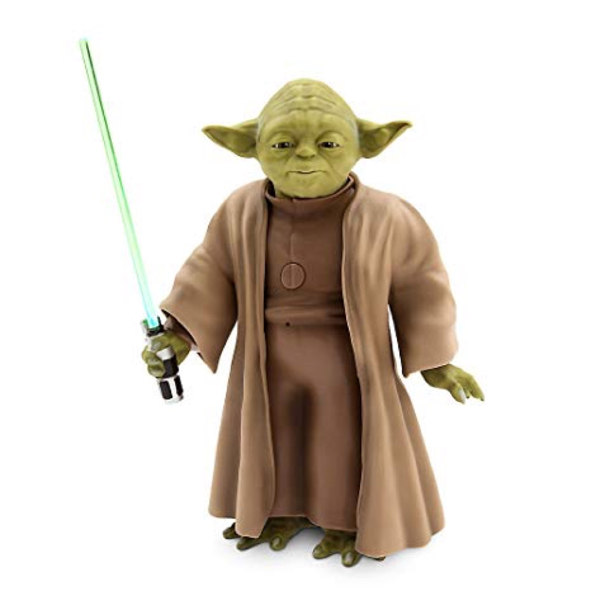 Yoda doll with lightsaber