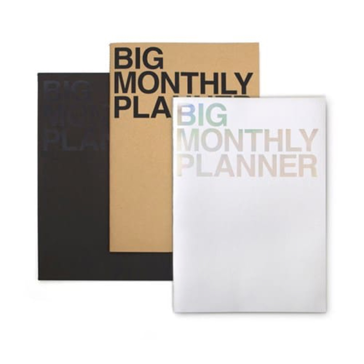 big monthly planner in three colors