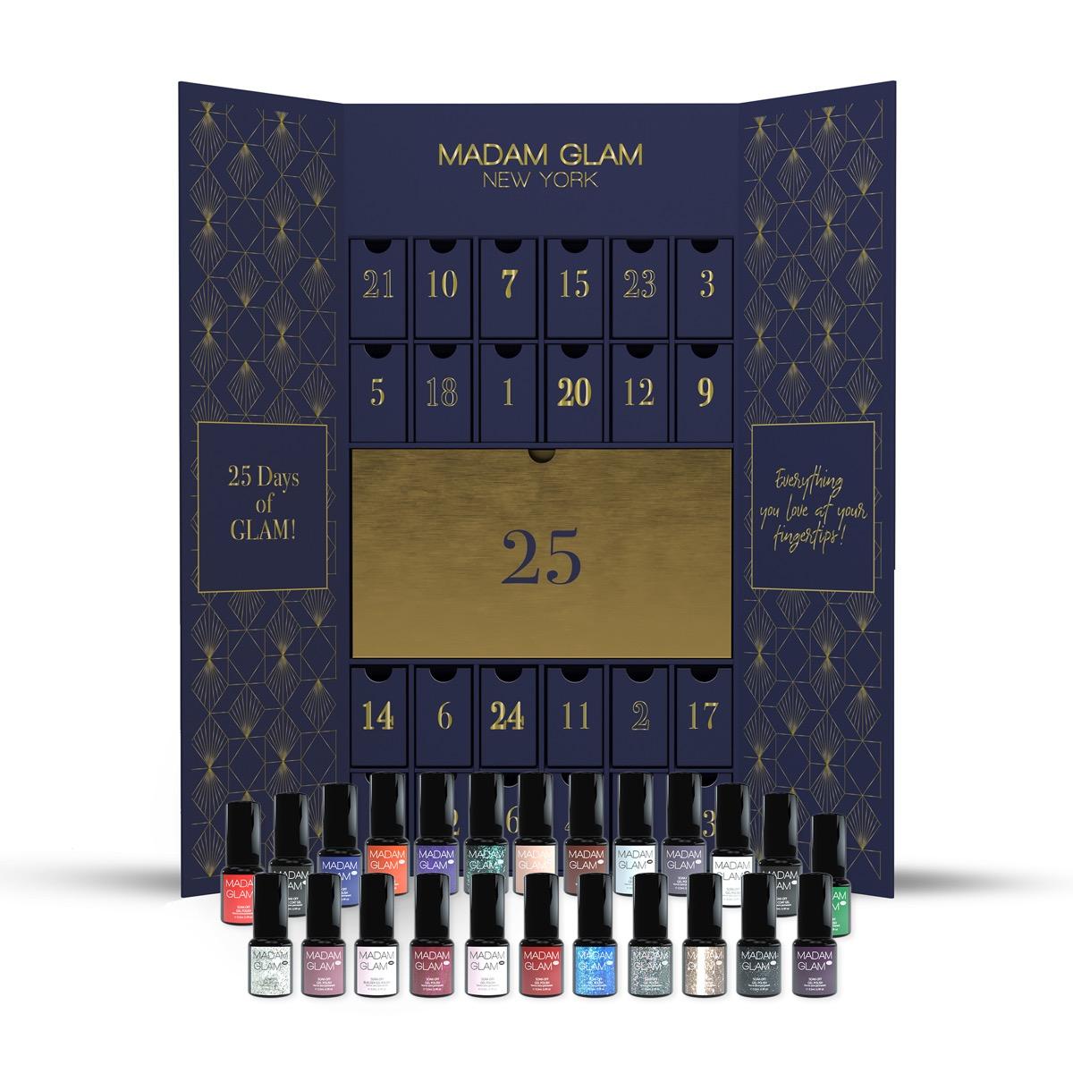 nail polish advent calendar on white background