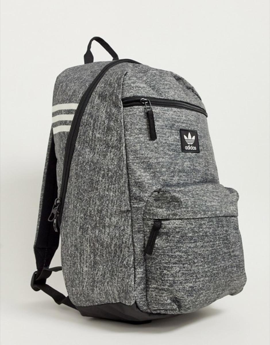 gray adidas backpack