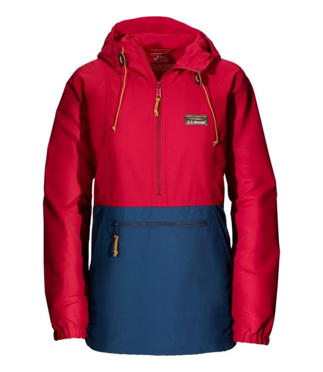 red and blue women's anorak