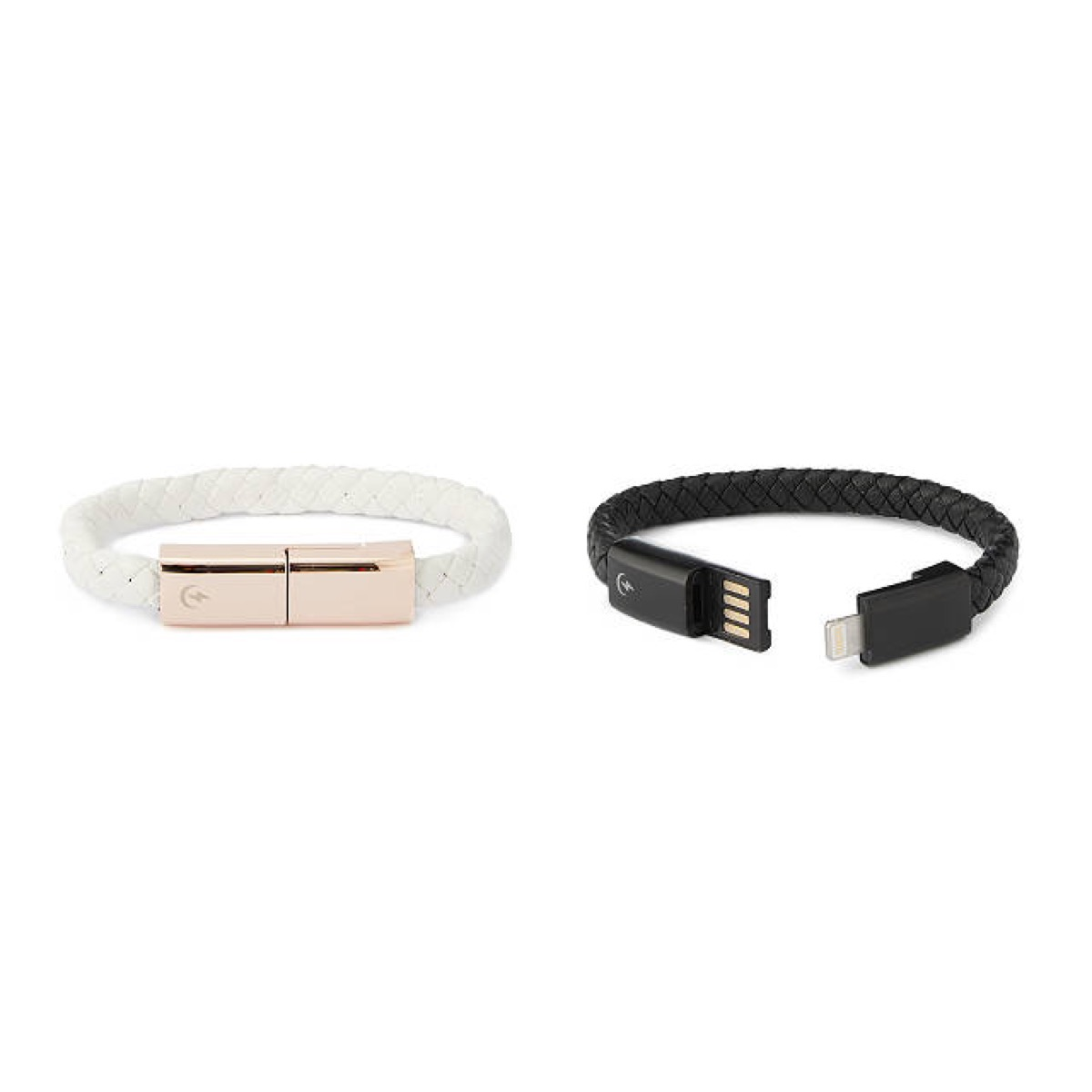 white and black charging bracelets