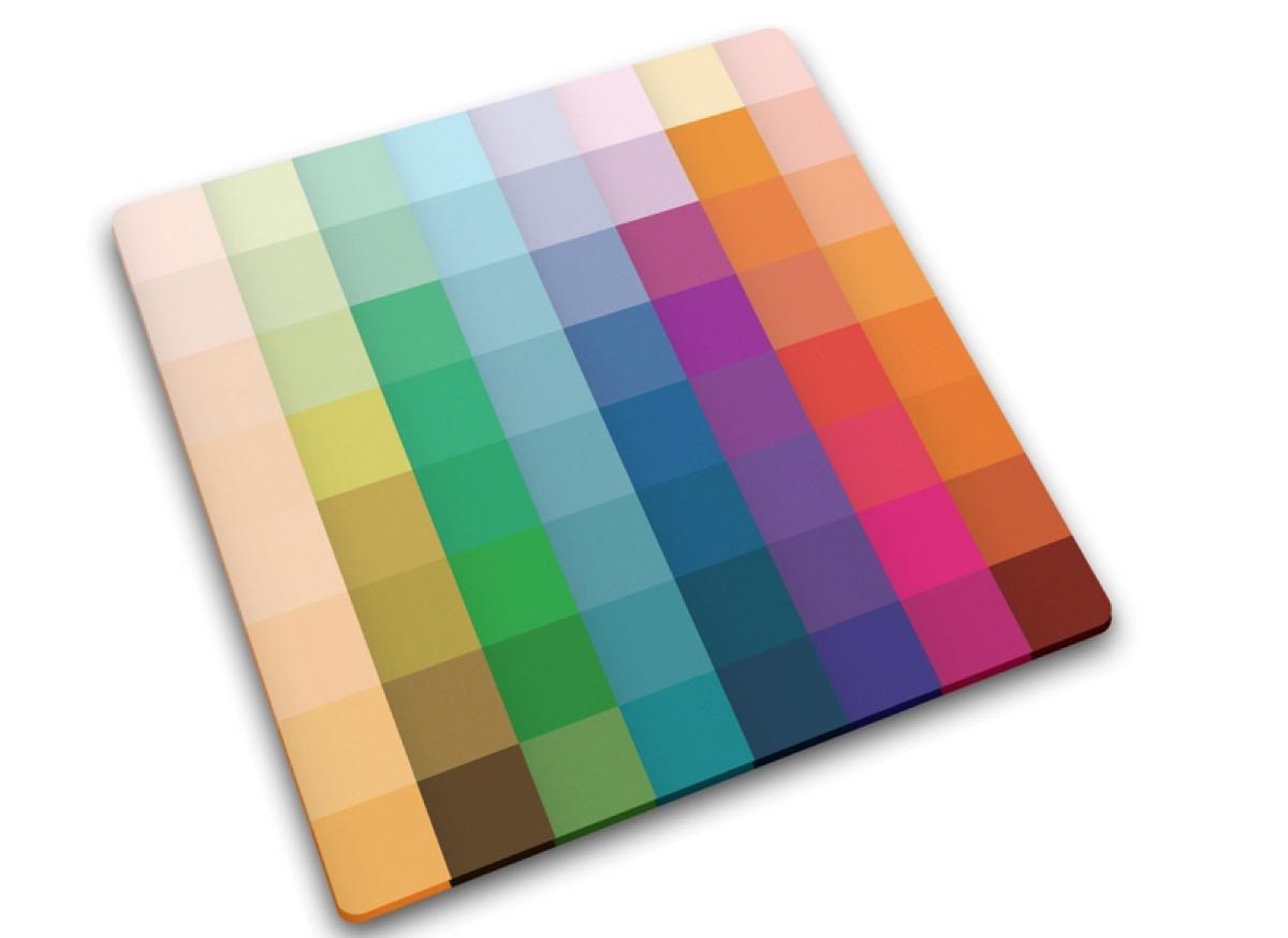multicolor pixelated cutting board