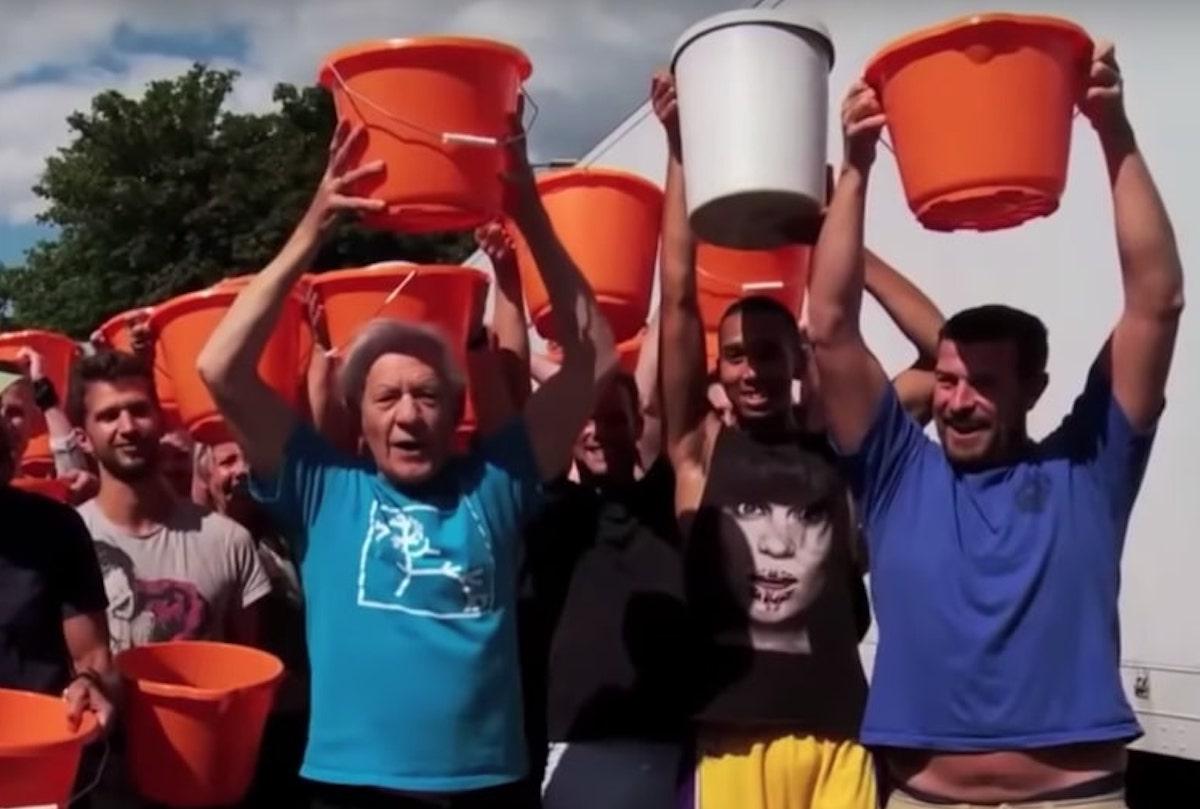 ian mckellan does als ice bucket challenge