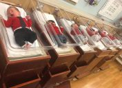 babies dressed as mr rogers