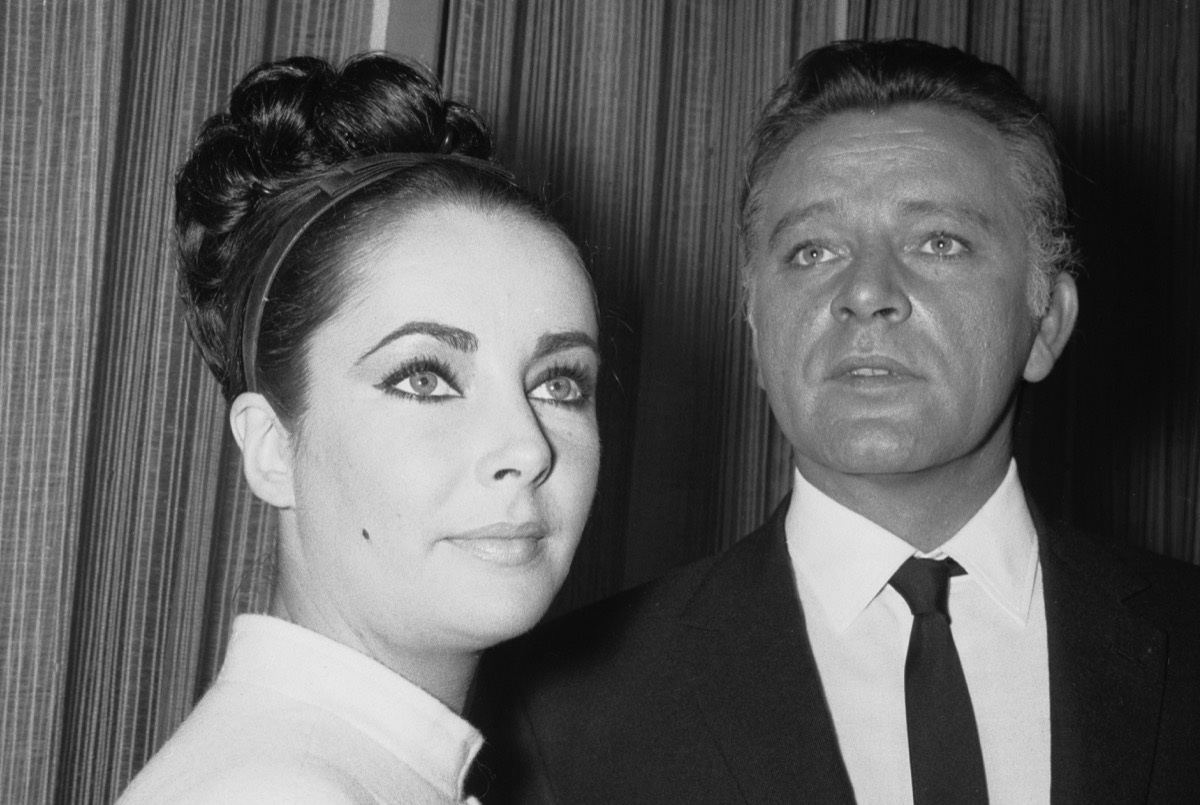Elizabeth Taylor and Richard Burton seen here filming the V.I.P.'s at the MGM studios in Elstree. 21st December 1962