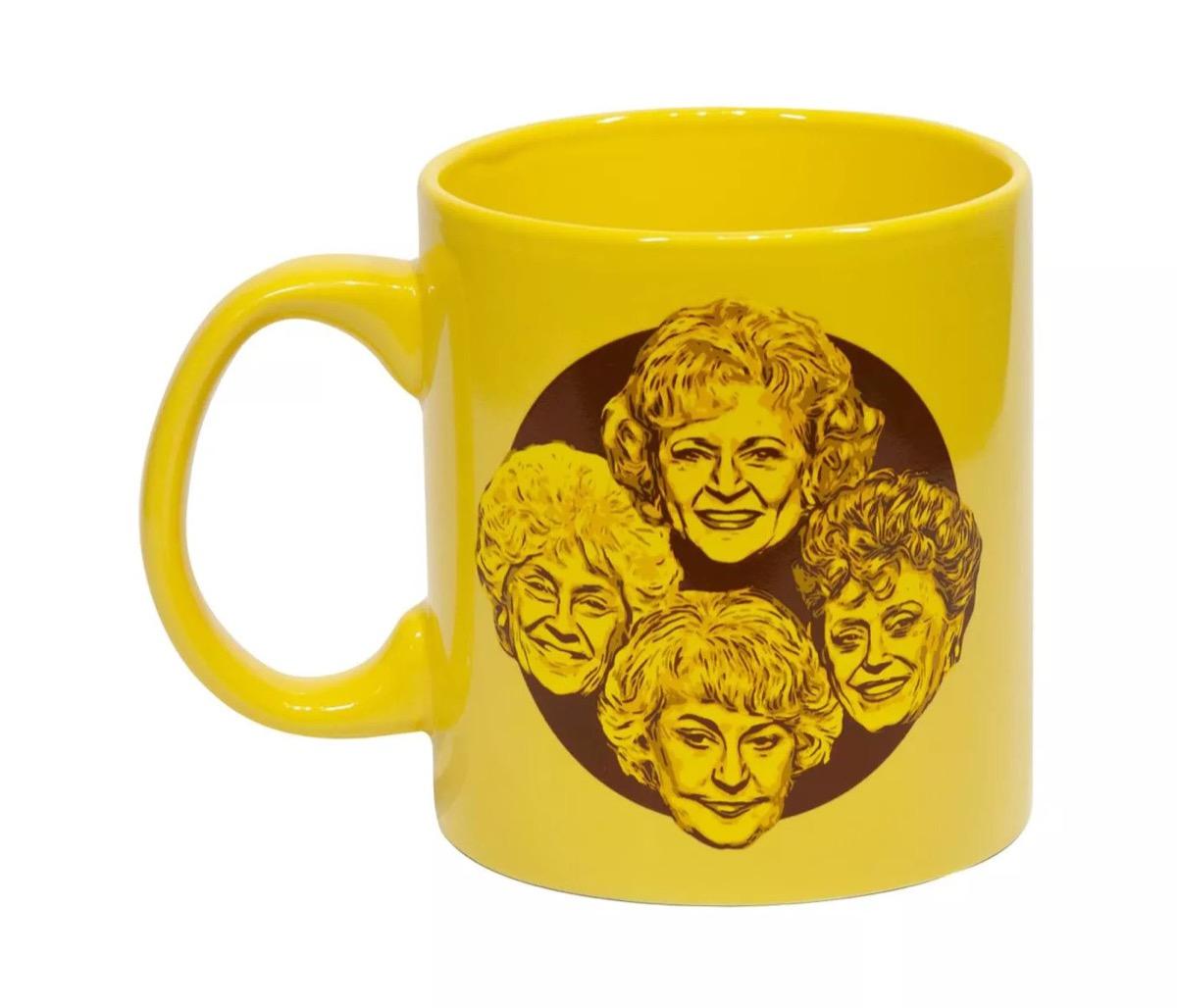 yellow golden girls mug