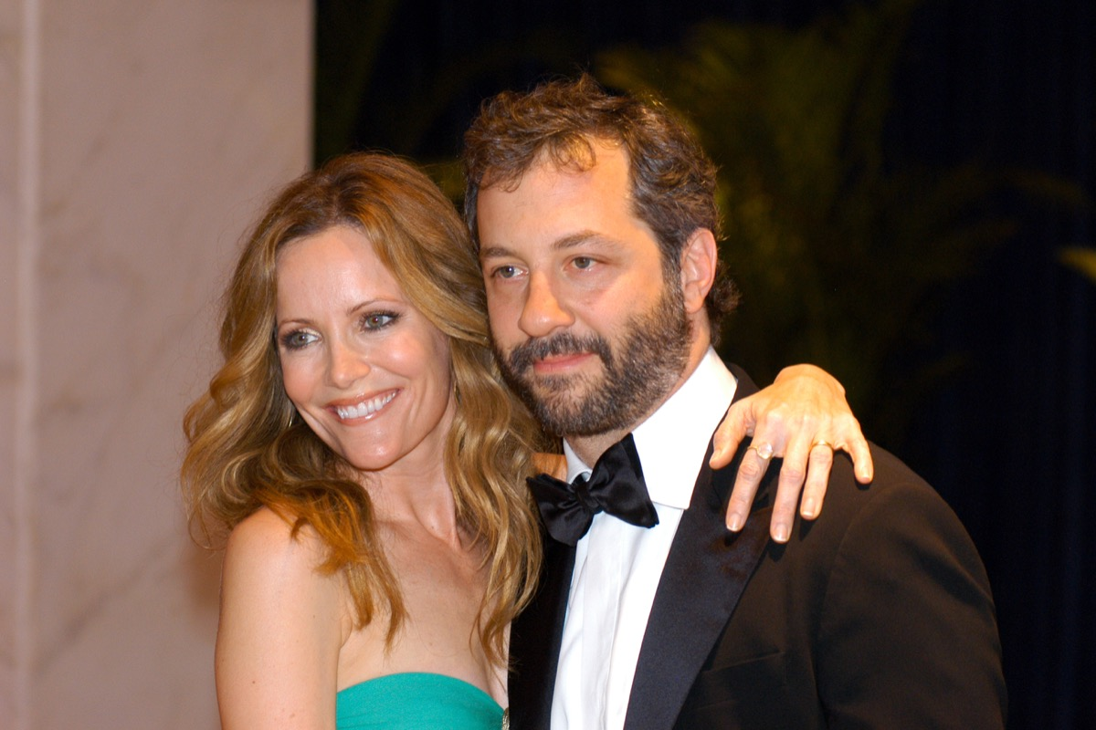 Leslie Mann and Judd Apatow at the White House Correspondents Association Dinner in 2010