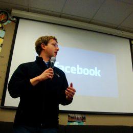 Mark Zuckerberg speaking in 2009
