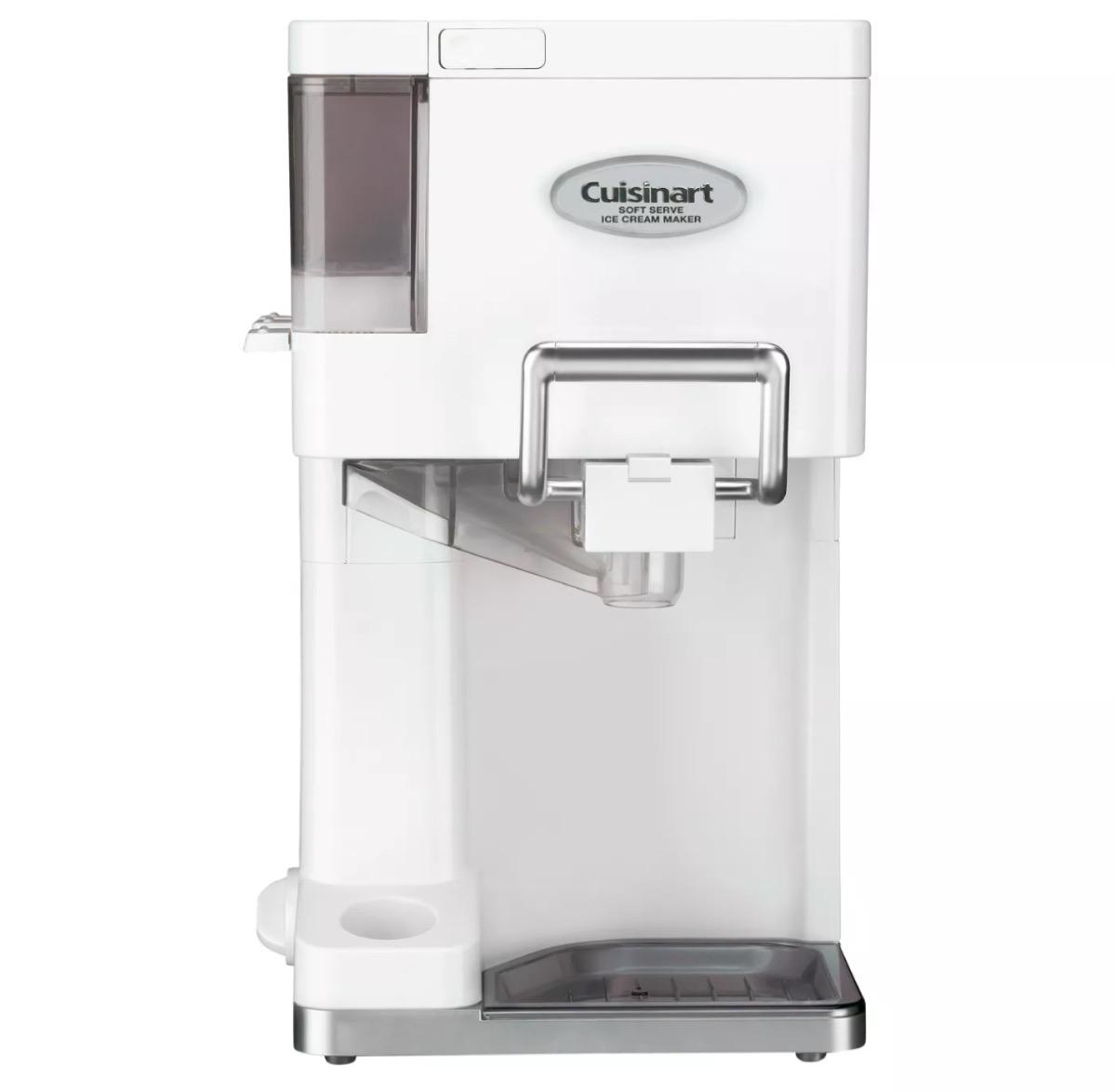 white cuisinart ice cream maker