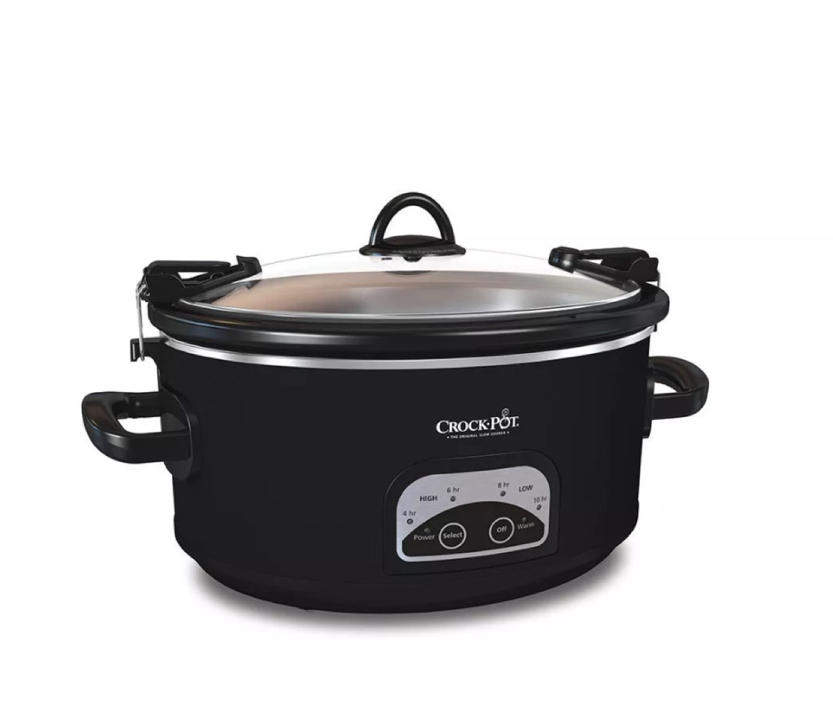 black crockpot slow cooker
