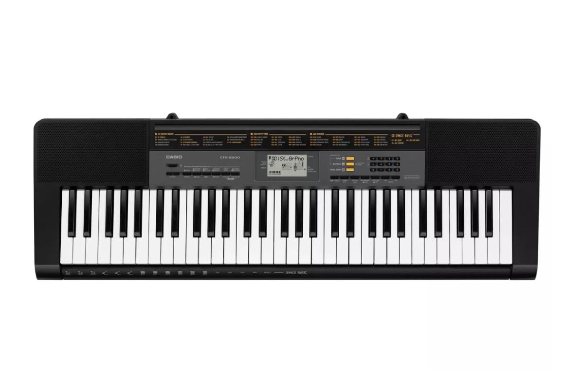 black casio keyboard
