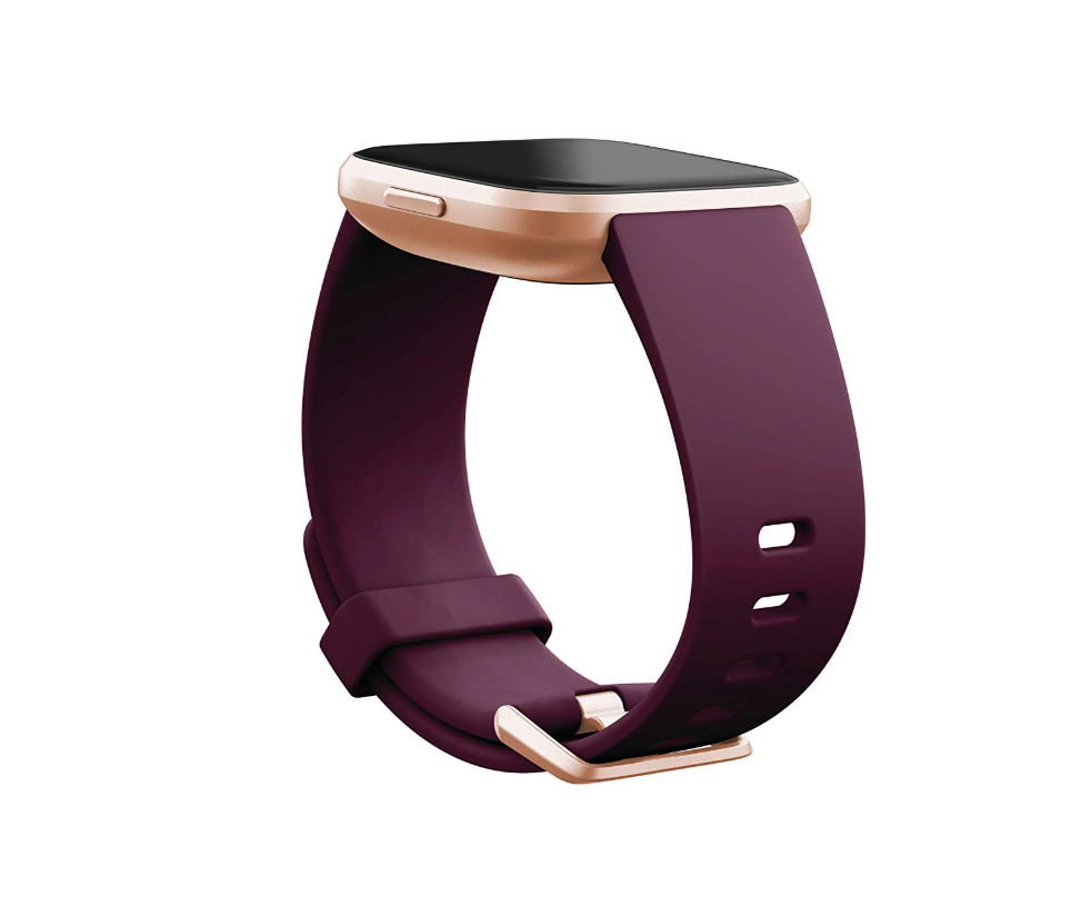 fitbit versa with purple band
