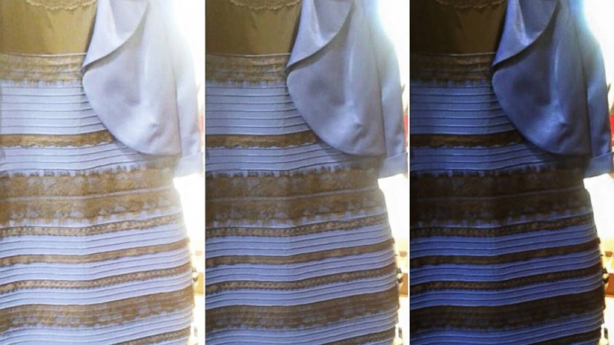 the dress debate of the 2010s, black and blue or white and gold