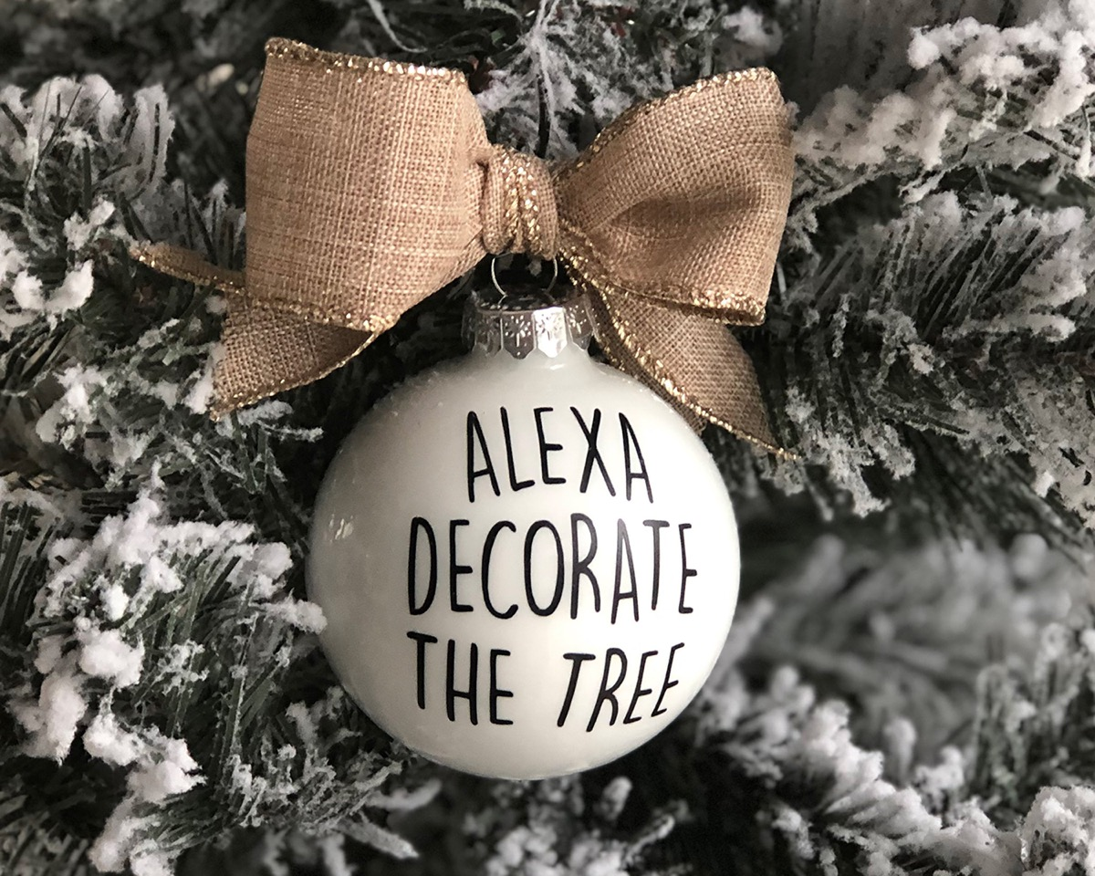 alexa decorate the tree ornament
